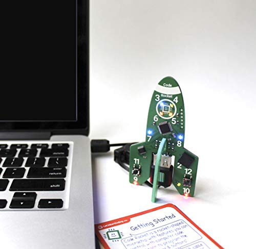 Code Rocket Coding Toys for Girls & Boys Age 8,9,10,11,12 to Learn Programming Through Electronics - Includes 21 Online Projects to Learn Code Hands-On