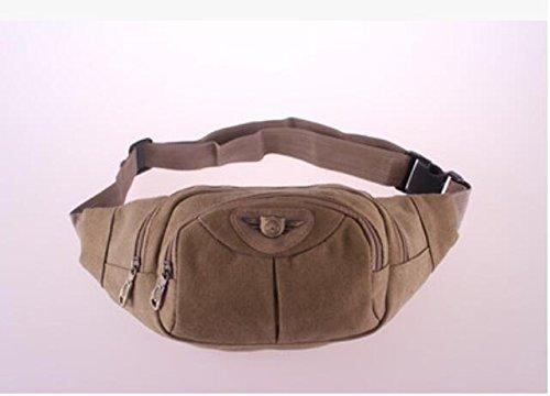 ZYT Poches souples en sacs de loisirs et de sports de loisirs toile sacs à main couleur unie à capuche pour hommes . khaki