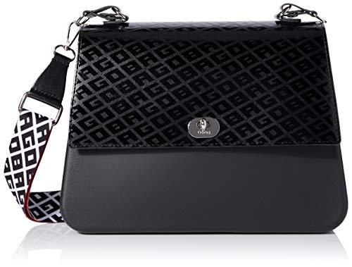 O bag Borsa Queen, Pochette da Giorno Donna, Nero (Nero), 31x10x21,5 cm (W x H x L)