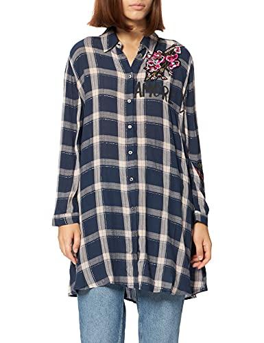 Desigual CAM_Jacaranda Camisa, Azul, XXL para Mujer