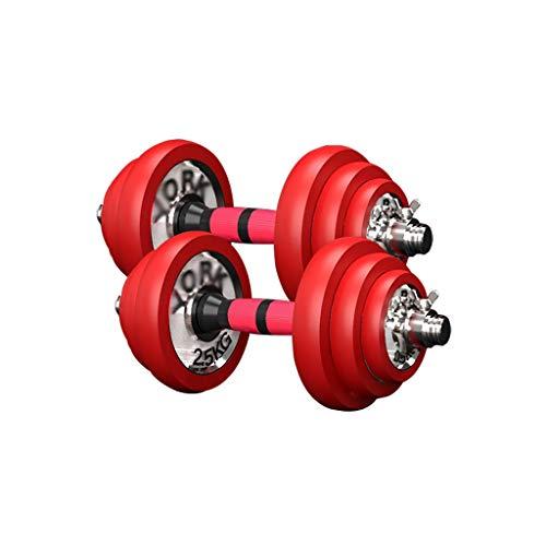 WFS Pesas Gimnasio Los Pesos Libres Aptitud Pesas Antideslizante Pesas Conjunto con La Biela Utilizada como Barbo Adecuados for Hombres Y Mujeres Musculación (Two Total Weights : 20kg/44lb)