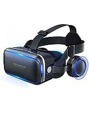 Gafas VR Gafas de Realidad Virtual 3D para iPhone Android 4.7-6.53 Pulgadas Smartphone Gafas con Caja Superior, para películas Regalo para niños y Adultos