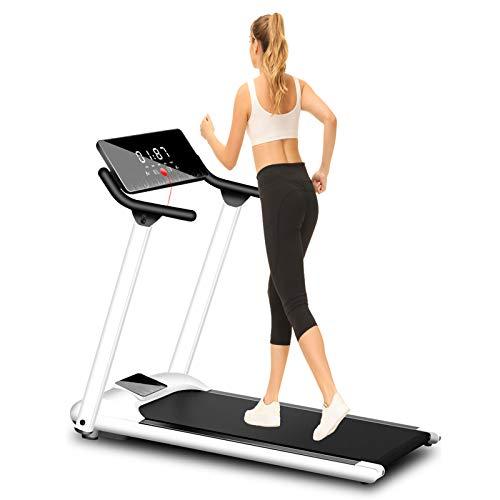 Woodtree Haushaltsraten Gewicht: 100kg, Laufband Laufmaschine Laufende Neigung HD-Bildschirm Mute Faltbare Festneigung, 1-10km / h