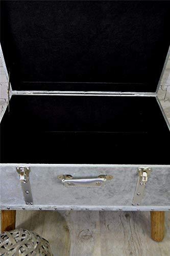 Livitat® Hocker Polsterhocker Suitcase Pouf Truhe Staufach Truhenbank Sitzbank Ottomane LV2083 - 2