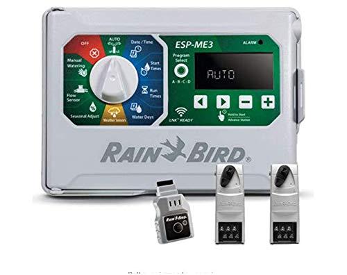 Rain-Bird Controller Indoor Outdoor Lawn Irrigation Sprinkler Timer ESPME3 (+ WiFi + 2 Modules)