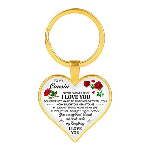 FUKAI Letter To My Daughter/teacher/girlfriend Key Ring Resin Epoxy Resin Heart-shaped Keychain Women's Men's Children's Gifts Jewelry (Color : DZKY0036)