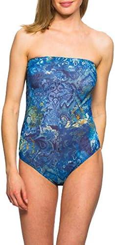 Kiniki Azure Limited time sale Tan Charlotte Mall Through Swimwear Tube Swimsuit
