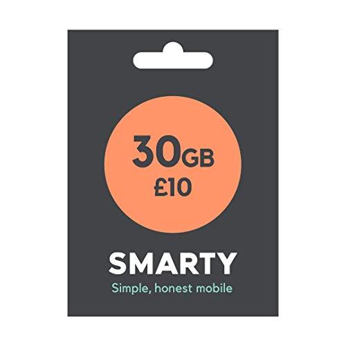 Smart SIM von nur £6 für 1 GB oder 30 GB für £10, unbegrenzte Anrufe und SMS enthalten