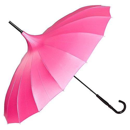 VON LILIENFELD Regenschirm Damen Sonnenschirm Brautschirm Hochzeitsschirm Pagode Cécile himbeer metallic