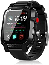 Apple Watch Waterproof Case for 40mm Apple Watch Series 4/6/SE,EFFUN IP68 Waterproof Shockproof Impact Resistant Apple Watch Case Rugged Protective iWatch Case+2 Soft Silicone Apple Watch Band Black