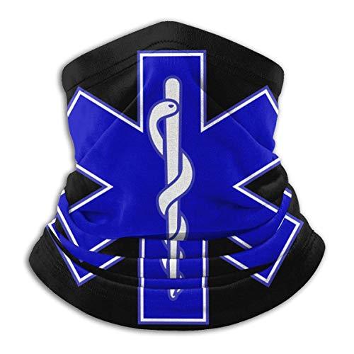 Bklzzjc Halsmanschette Blau EMT Adult Halsmanschette Sturmhaube Kopfbedeckung oder weicher magischer Schal Gesichtssport Stilvolle Sonnenschutzfarbe Farbige Arbeit Nahtlos B.