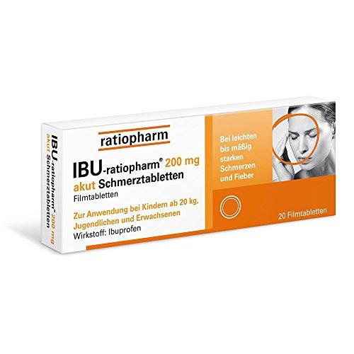 Ibu-ratiopharm 200 akut Tabletten, 20 St. Tabletten