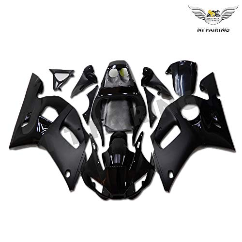NT FAIRING New Glossy Matte Black Injection Mold Fairing Fit for Yamaha 1998-2002 YZF R6 1999 2000 2001 Painted Kit ABS Plastic Motorcycle Bodywork Aftermarket