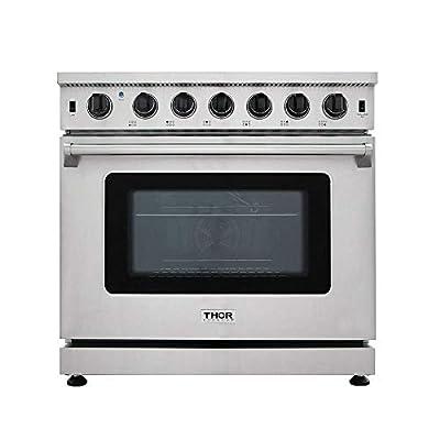 New Arrival 36 Inch Gas Range 6 Burners Cooktop 6.0 cu.ft Oven Thor Kitchen LRG3601U