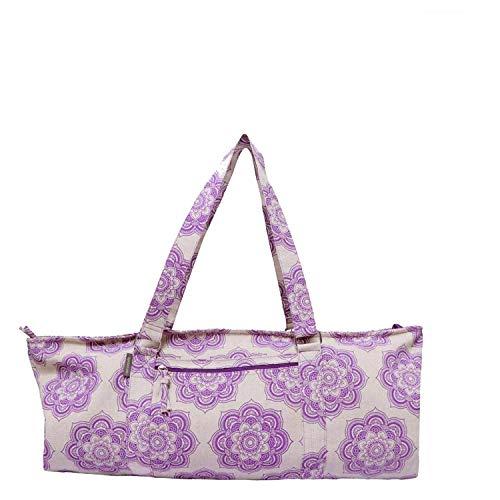 Yoga Mat Bag - Jute/Cotton Fabric with Mandala Pattern Printed Luxurious Yoga Mat Bag, Perfect for Yoga and Pilates | Size - 29' X 8' X 12'