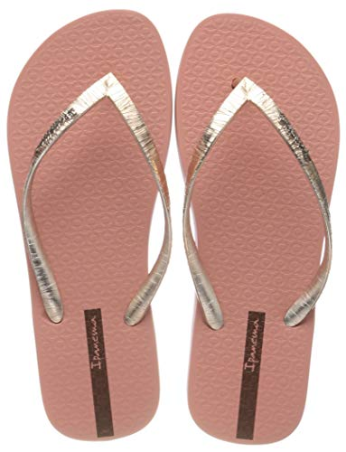 Ipanema Glam II Fem, Chanclas Mujer, Multicolor (Pink/Metallic Gold 9262.0), 39 EU
