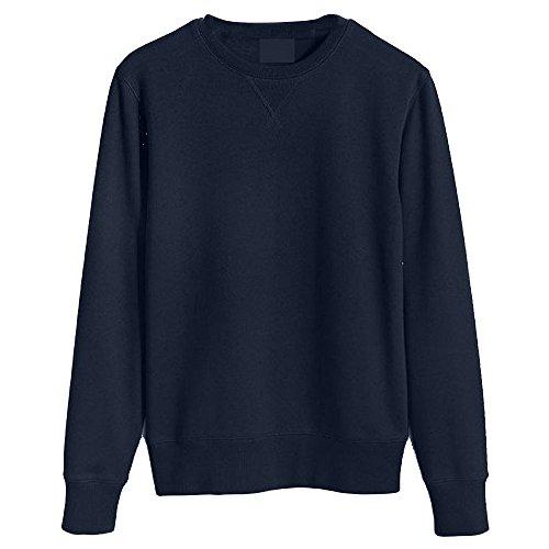 ROCKBERRY Mens Orignals Plain Sweatshirt Jumper Sweater Pullover Work Casual Leisure Top (Navy, M)