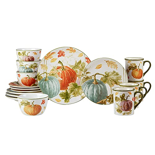 Certified International Harvest Autumn Havest 16 Pc Dinnerware Set, Service for 4, Multicolor