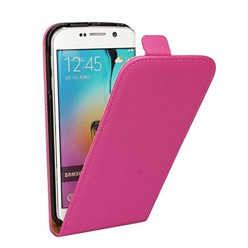 MPG Handy Hülle für HTC One M8, Handyhülle Pink, Schutzhülle Flip Case Tasche für HTC One M8 mit Magnet-Verschluss, Business Klapphülle