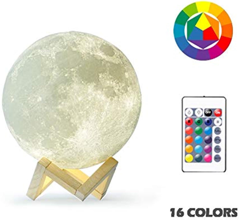 Z Lamp Neue 3d-mond-lampe Farbenfrohe Variationen Berühren Usb, Um Nachtlichter Zu Führen 22 cm 16 Farben