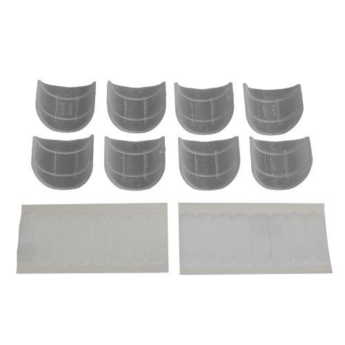 Liedeco Schlaufengleiter mit Klettband für Gardinenstangen, ø 28 mm, 8 STK