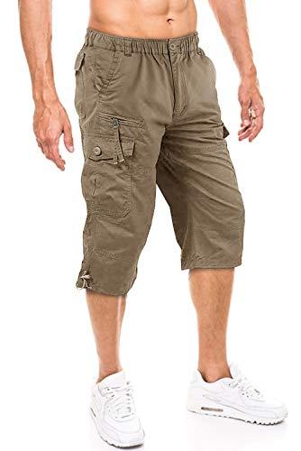 Pantalones Cortos Casual Hombre Pantalones Cortos de Carga C