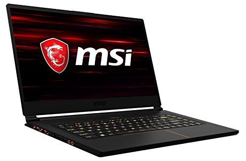 MSI GS65 8RF-019DE Stealth Thin (39,6 cm/15,6 Zoll/144Hz) Gaming-Notebook (Intel Core i7-8750H, 16GB RAM, 512GB PCIe SSD, Nvidia GeForce GTX 1070, Windows 10 Home) schwarz/gold