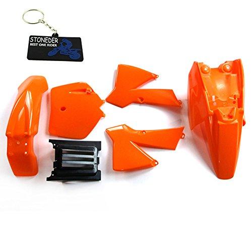 STONEDER Kit de carenado de guardabarros plástico naranja para KTM50 50 SX 50 SX Junior 50 SX Mini 50 Mini Adventure 50 Senior Adventure 50 Junior Adventure KTM50 Senior Adventure Junior 50cc SX SR JR
