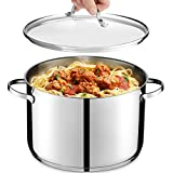 GOURMEX Tango Induction Stockpot | Stainless Steel Pot With Glass Cookware Lid | Interior...
