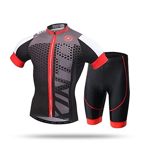 Jersey de ciclismo para hombre Jersey de ciclismo para hombre Set Shorts 3D acolchado manga corta Trajes Conjunto de ropa de ropa de bicicleta de secado rápido Maillot de ciclismo para hombre