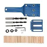 Localizador de punzones, guía de agujeros, herramienta de carpintería, granja de jardín para empalme de espigas redondas para trabajar la madera(#0, 1)