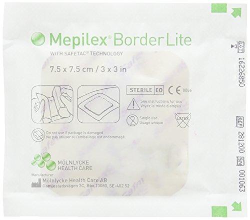 Mepilex Border Lite Schaumverband 7,5 x 7,5 cm 5 Stück