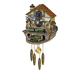 The Bradford Exchange Steam Engine Train Cuckoo Clock: The Flying Scotsman Memories of Steam