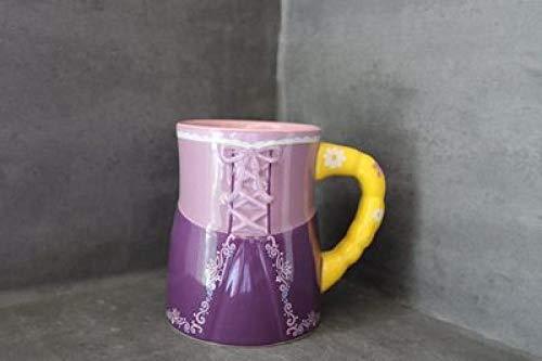 HSIWMKsba Tazas De Sirena 3D Tazas Lindas De Dibujos Animados Taza De Café De Cerámica Colección De Regalos De Tazas Vasos De Leche Creativos Desayuno Tazas De Leche Micro Defectos-Rapunzel