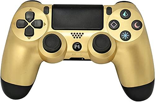 Controle sem fio Bluetooth sem fio CHASDI V2 PS4 com cabo USB para Sony PlayStation 4 compatível com Windows PC e Android OS, Dourado