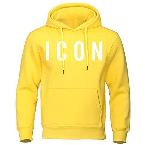 Mijnwerker Herfst Winter Sweatshirts Mode Icoon Heren Hoodies Warm Grappige Truien Casual hiphop hoody Nieuwe Heren Trainingspak, geel 5, L
