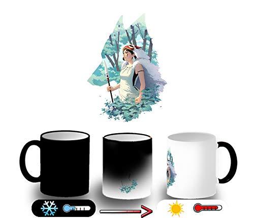 MERCHANDMANIA Taza MÁGICA LA Princesa Mononoke Magic mug