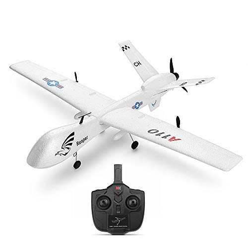 GoolRC WLtoys XK A110 RC Predator Plane, 2.4G 3 Channels Remote Control Airplane with 6-Axis Gyroscope, Fixed Wing Glider Aircraft with 565mm Wingspan for Beginner