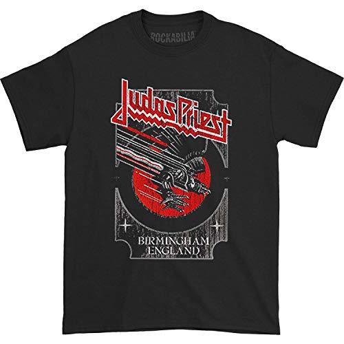 Judas Priest Herren T-Shirt Silver and Red Vengeance schwarz