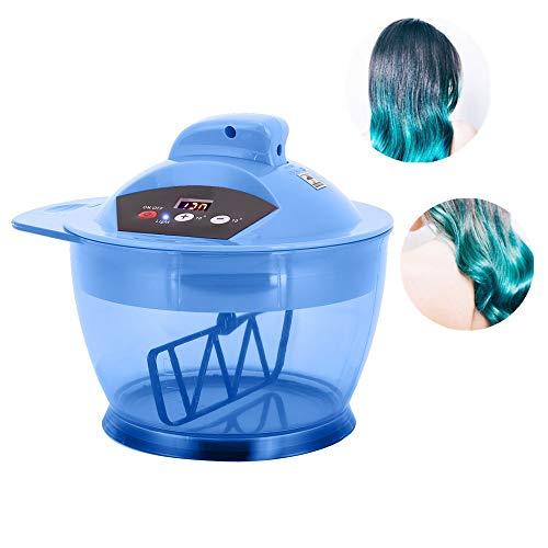 Qkiss Elektromixer Haarfarbe Schüssel, Farbstoff Automatischer Mixer Mixer Haarfärbemittel Creme Rührschüssel für professionellen Friseursalon (3 Farben)(Blau)