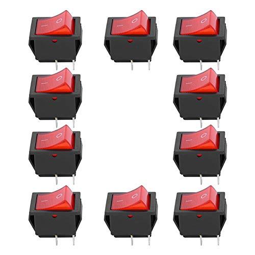 SANON 10 Piezas Interruptor Basculante de Encendido/Apagado de 2 Posiciones Kcd4 de 4 Pines Resistencia Al Calor para Electrodomésticos