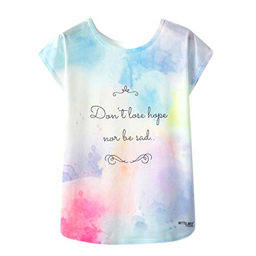 Lazzboy Women's Graffiti/Print/Animal/Flower Short Sleeve O Neck Daily T-Shirt ,14,Multicoloured-slogan