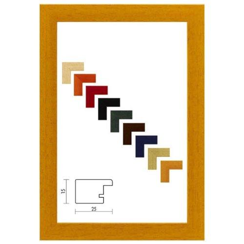 Holzrahmen Prato in Honig 24x30 cm mit Kunstglas mit Rückwand - verfügbar in 17 Formaten & 10 Farben.