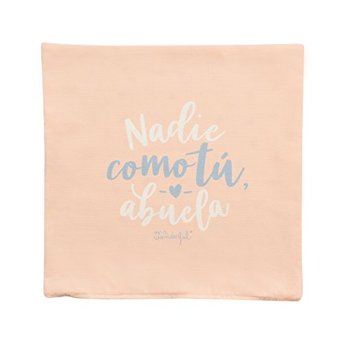 Mr; Wonderful Woa08957Es Funda De Cojín 'Nadie Como Tú, Abuela', Multicolor, 19.5X19.5X0.5 Cm