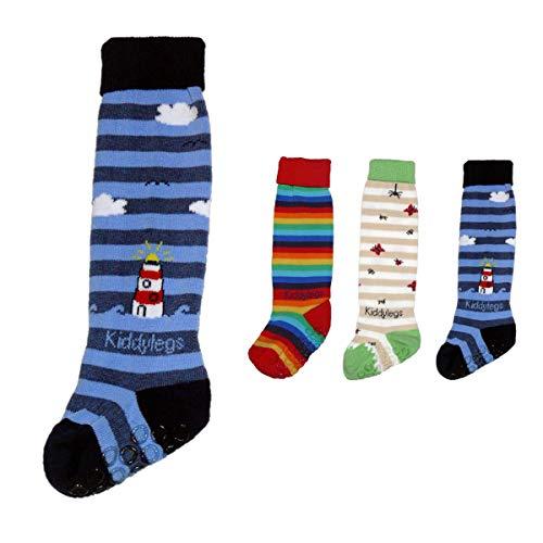 Kiddylegs - Calcetines largos para bebé azul faro Talla:3: ca. 17-36 Monate