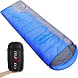 <span class='highlight'><span class='highlight'>IREGRO</span></span> Envelope Sleeping Bag, Lightweight Portable,Waterproof, Comfort with Compression Sack, 190T Polyester Sleeping Bag with Zipper for Outdoor Activities