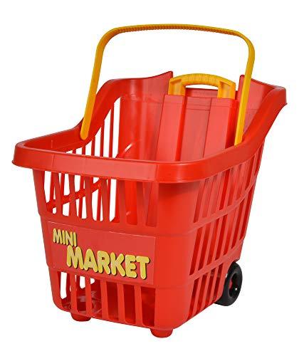 Simba 104504401 Einkaufs-Trolley-104504401 Einkaufs-Trolley, Mehrfarbig