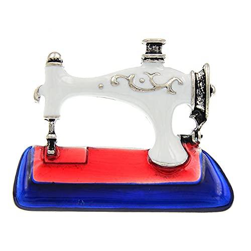 Broche de máquina de coser de esmalte Vintage, broches de moda de...