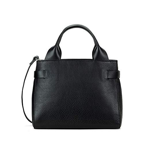 Clarks Damen The Ella Sml Umhängetasche, Schwarz (Black Leather), 1x1x1 cm