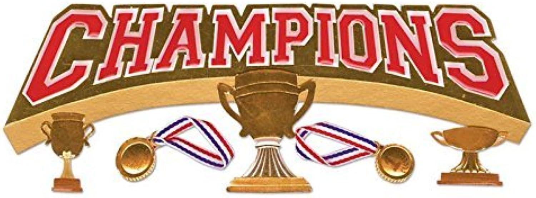 Jolees Boutique Title Wave Dimensional Stickers, Champions Champions Champions by JOLEES B01KB74NYU | Tragen-wider  a17445